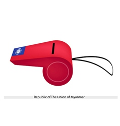 A whistle of republic of the union of myanmar vector