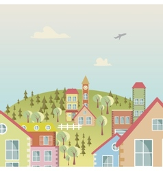 Seamless cartoon town 2 vector