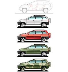 All-road vehicle vector