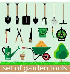 Set of garden tools vector