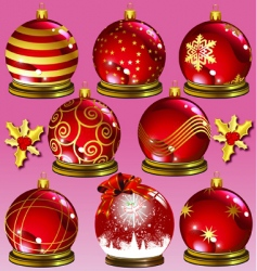 Red ornaments vector