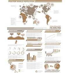 Infographic demographics population 2brown vector