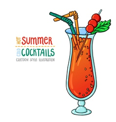 Cocktails one cartoon 3 vector
