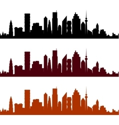 View of a city with skyscrapers vector