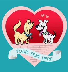 Doggy cartoon vector