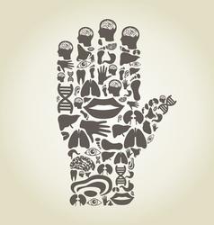 Hand body vector