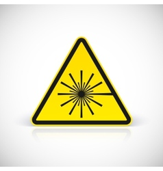 Laser hazard warning sign vector