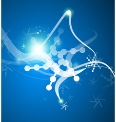 Christmas lightning abstraction snowflakes waves vector
