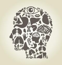 Head of part body vector