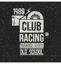 Emblem racing club vector