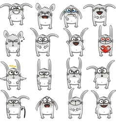 Smiley rabbits vector