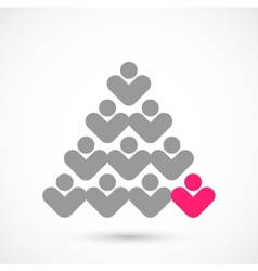 Christmas vote tree vector