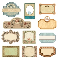 Ornate vintage labels vector