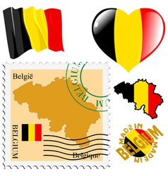 National colours of belgium vector