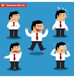 Manager emotions in poses vector