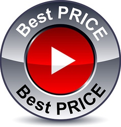 Best price round button vector