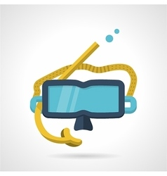 Snorkeling mask flat icon vector