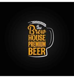 Beer bottle glass house design menu background vector