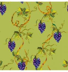 Grape seamless vector