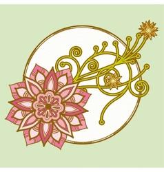 Flower decoration vector