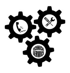 Technical service design vector