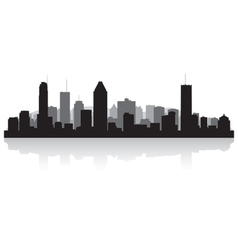 Montreal canada city skyline silhouette vector