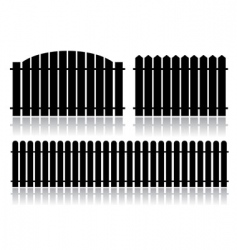 Black fence isolated on white vector