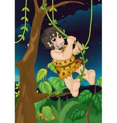 Jungle man vector