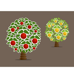 Abstract fruit trees vector