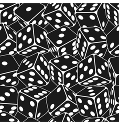 Dice seamless background pattern vector