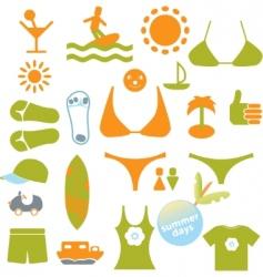 Summer signs vector