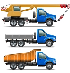Lorry icons set 3 vector