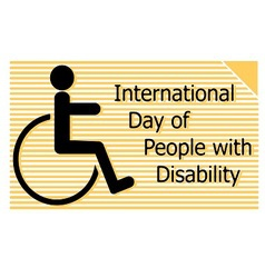 International day of people with disability vector