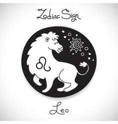Leo zodiac sign of horoscope circle emblem in vector
