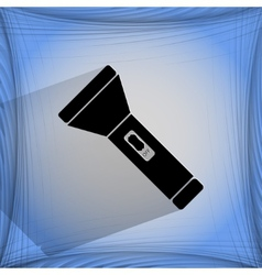 Flashlight  flat modern web button on a flat vector