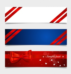 Card note with ribbons vector