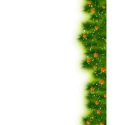 Christmas card border vector