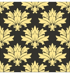Styled yellow flowers in seamless decor vector
