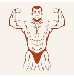 Bodybuilding and powerlifting bodybuilder showing vector