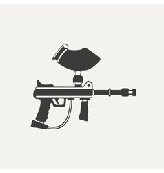 Paintball gun black and white vector