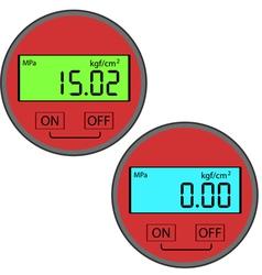 Digital gas manometer vector