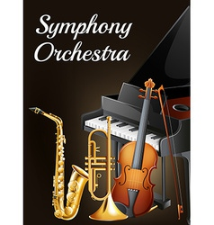 Symphony ochestra design vector