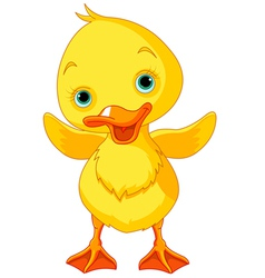 Happy duckling vector