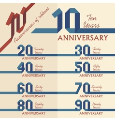 Anniversary sign collection vector