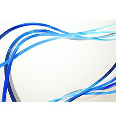 Blue modern swoosh abstract background vector