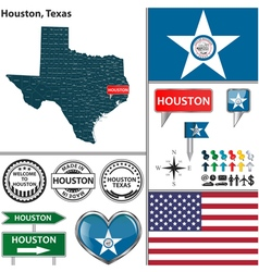 Houston texas set vector