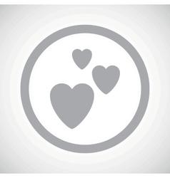 Grey love sign icon vector