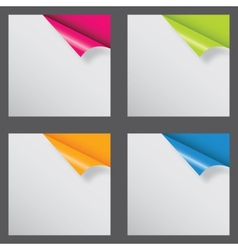 Papers with different corner and place for your vector