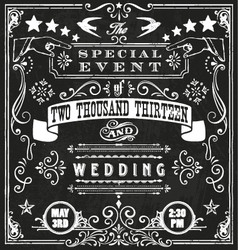 Wedding invite 4 vector
