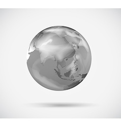 A planet in gray color vector